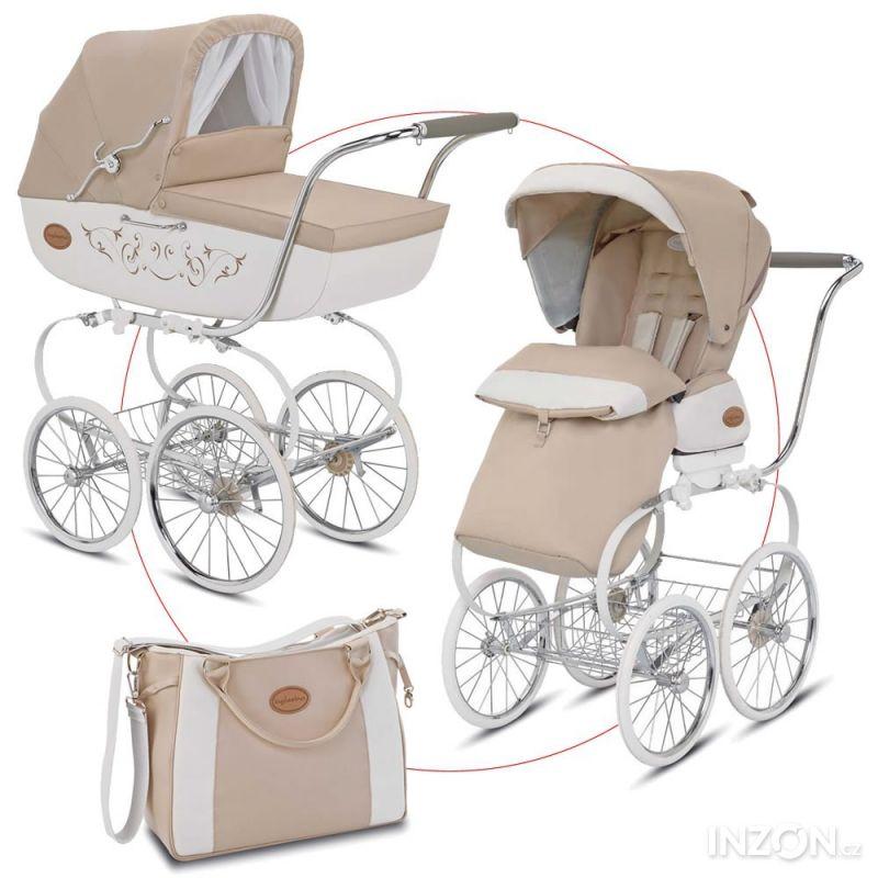 Forografie Inglesina kočárek Classica s brašnou na přenášení dítěte a  sportovní Seat 534aad08b8